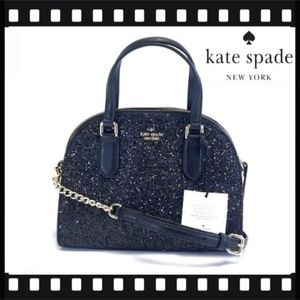 ♠️KATE SPADE♠ LAUREL WAY GLITTER BLACK MINI REILEY